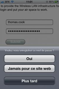 Safari : retenir le mot de passe